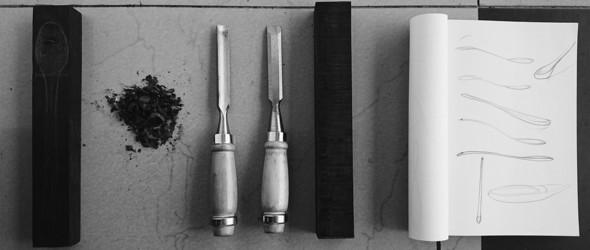 摄影:手工木勺制作过程欣赏