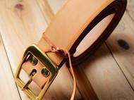 手工制作皮带腰带 阿根廷植鞣革纯铜皮带扣养牛必备