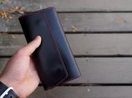 白馬手造 |手工制作皮具 钱包/长夹 手染黑色