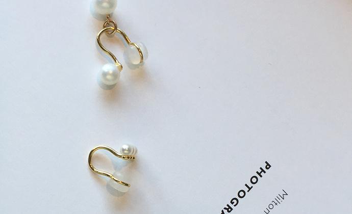 MQ奎妮小姐 小可爱天然珍珠925纯银耳夹