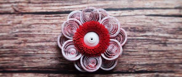 美丽的几何衍纸花卉,来自俄罗斯手工匠人 Olga Brazhnikova