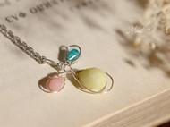【Mint】三色堇 清新森林系多宝石手工绕线925纯银锁骨链项链