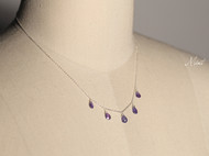 【Mint】气质手工迷你坦桑石水滴925纯银锁骨链项链纤细