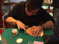 骄阳手工真正的手工皮具制作课程手把手教你制作真正的纯手工皮具