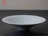 【隐机者】长空 白釉铁点斗笠盘景德镇手工器皿 汤菜盘 原创餐具