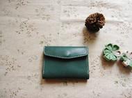 复古绿植鞣小钱包