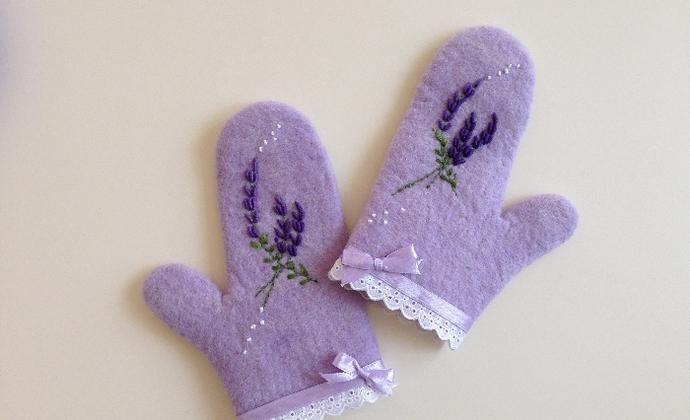 森系羊毛毡手套
