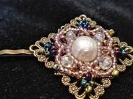 复古洛可可风珍珠琉璃发饰发夹