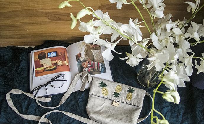 [青手制2015 .06]刺绣 手作 背包 三颗菠萝