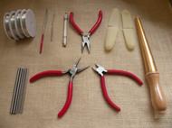 首饰设计老师推荐DIY手工绕线专业工具包套装工具钳戒指棒送教程