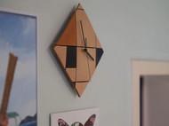 蒙德里安·格子画 拼贴挂钟