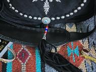 集点手作坊 手工皮具 goros高桥 鹿皮猎人包 银饰 财布扣 斜挎包