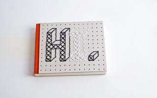 简单十字绣diy教程:无需刺绣基础,简单刺绣几何图案的手工本封面教程