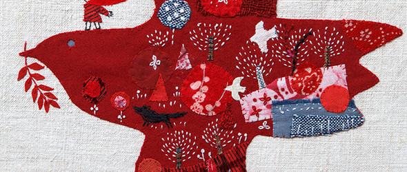 小红帽 | 日本艺术家平佐実香(Mika Hirasa)有趣的刺绣拼贴画