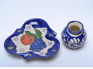 【陶瓷小皿小杯】水果图案小皿 小奶杯 酒杯 日本直邮