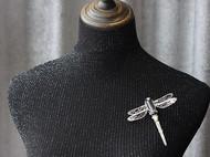 【LXB私人设计】钉珠刺绣蜻蜓胸针
