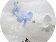 纯手工日系森女系浪漫繁花朵水钻仿珍珠花环对插边夹发夹头饰发饰