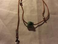 翡翠皮绳活扣设计的自由调节项链