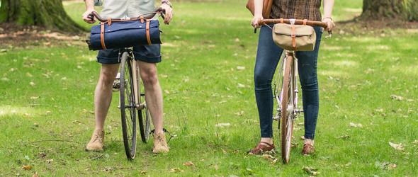 手工制作皮革帆布组合的户外防潮垫自行车卷包/Blanket Roll教程