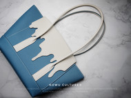【手工皮具】原创设计——融化的冰川