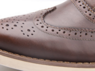 手工男鞋 真皮雕花布洛克绅士鞋
